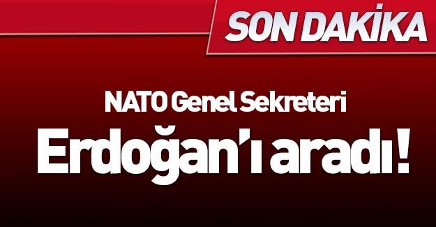 NATO Genel Sekreteri'nden Erdoğan'ı aradı!