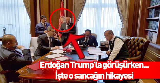 İşte Cumhurbaşkanı'nın fotoğrafındaki o sancak!