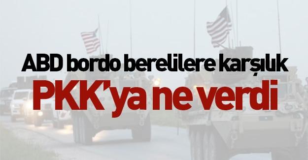 ABD bordo berelilere karşı PKK'ya bakın ne verdi