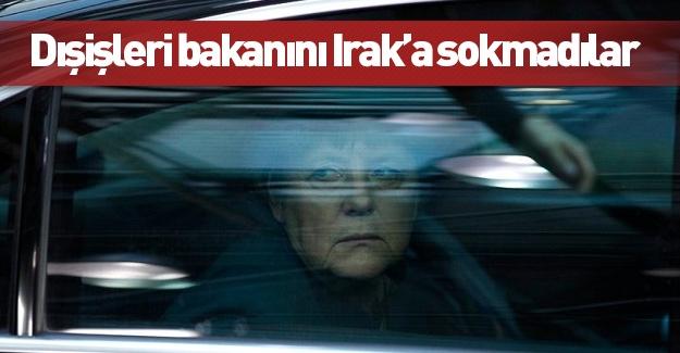 Almanya Dışişleri Bakanı Irak'a gidemedi