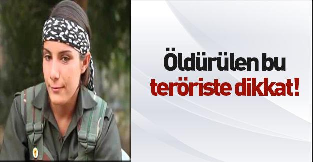 Operasyonda öldürülen teröriste dikkat!