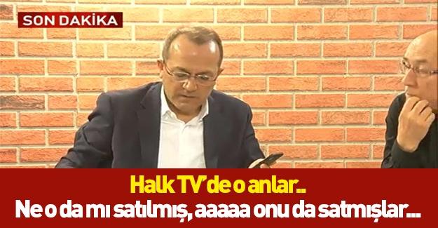 Halk TV'de o anlar kameralara yansıdı