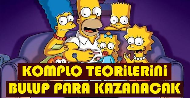 Simpson'daki komplo teorilerini bulup para kazanma fırsatı