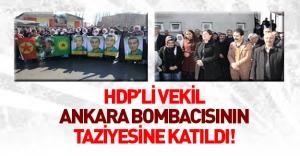 Ankara bombacısının taziyesine katılan HDP'li vekil