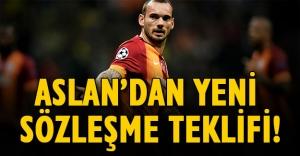 Galatasaray'dan Wesley Sneijder'e yeni sözleşme teklifi! Flaş son dakika gelişmesi...