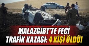 Muş'un Malazgirt ilçesinde trafik kazası! 4 kişi öldü, 3 kişi yaralandı...