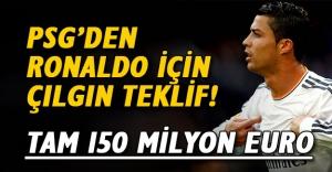 Paris Saint-Germain'den (PSG) Cristiano Ronaldo için 150 milyon Euro'luk çılgın transfer teklifi!