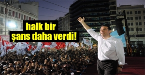 Yunan halkı Çipras'a bir şans daha verdi!