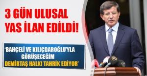 Başbakan Davutoğlu saldırıdan sonra konuştu! 3 gün ulusal yas ilan edildi