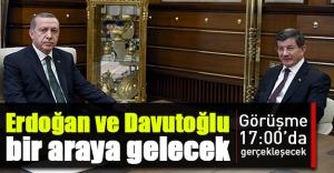 Cumhurbaşkanı Erdoğan, Davutoğlu'nu kabul edecek!