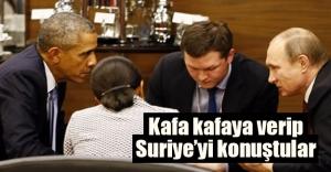 Obama ile Putin kafaya kafaya verip ne konuştu?