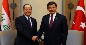 Başbakan Davutoğlu ile Barzani bir araya geldi!