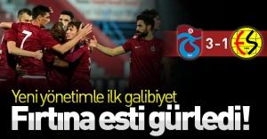 Fırtına esti gürledi! Yeni yönetimle ilk galibiyet geldi! (Trabzonspor 3-1 Eskişehirspor)