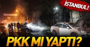 Terör yandaşları 13 aracı kundakladı!
