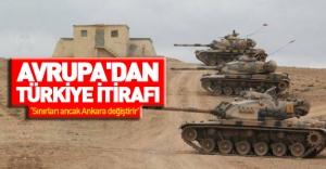 Avrupa'dan Türkiye itirafı