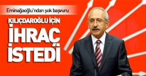 CHP'li Eminağaoğlu'ndan şok başvuru