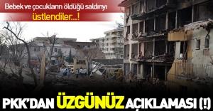 Çınar'daki saldırıyı PKK üstlendi: Üzgünüz(!)