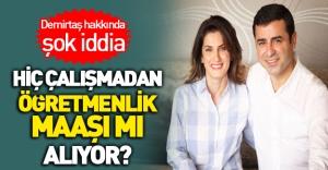 Demirtaş'ın eşi çalışmadan öğretmenlik maaşı mı alıyor?