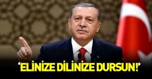 Erdoğan'dan sert açıklamalar: Elinize dilinize dursun
