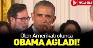 Obama canlı yayında gözyaşlarını tutamadı