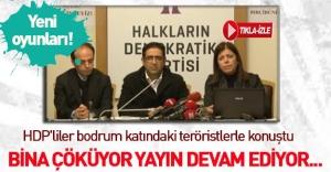 HDP'liler teröristlere canlı bağlandı