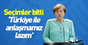 Merkel Türkiye ile anlaşmak istiyor