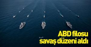 Amerikan donanması savaş düzenine geçti